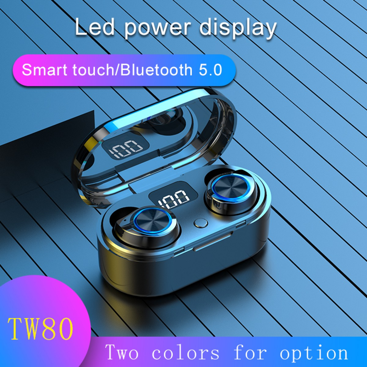Explosion-proof digital Bluetooth headset in-ear wireless headset LED tws Bluetooth headset 5.0