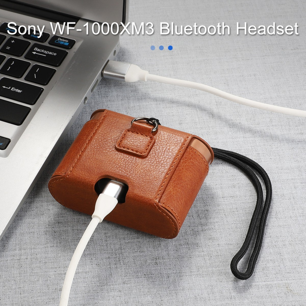 Suitable for SONY Sony WF-1000XM3 Bluetooth headset protective sleeve noise reduction bean 3 leather portable shell stor
