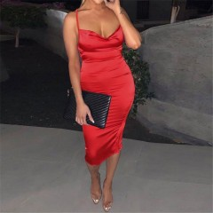 women summer sleeveless backless dress party sexy club clothes