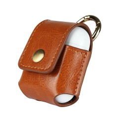 Suitable for Apple airpods protective case leather storage anti-lost headset holster anti-fall Bluetooth headset